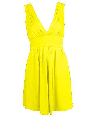 Bright Yellow Dress